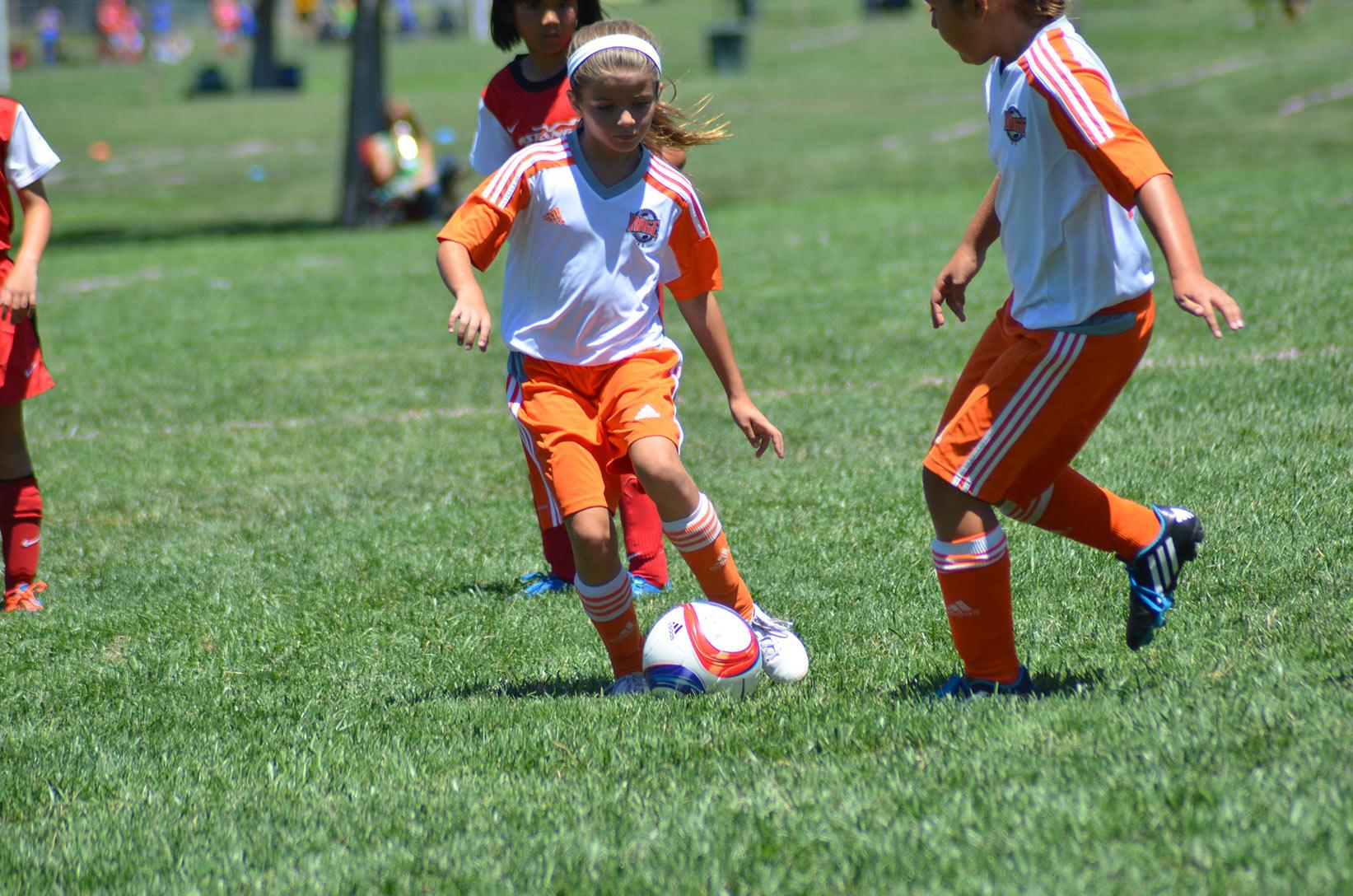 RAGE Girls playing soccer