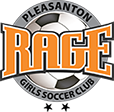 Pleasanton RAGE Girls Soccer Club Logo
